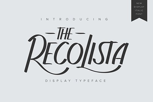 The Recolista | Display Typeface