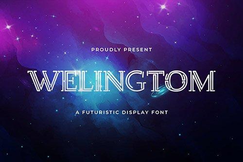 Welingtom - Futuristic Display Font