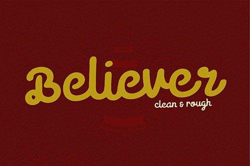 Believer Script Typeface