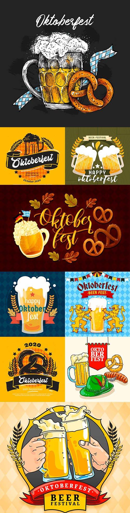 Oktoberfest Beer Festival Flat Design Illustration 5