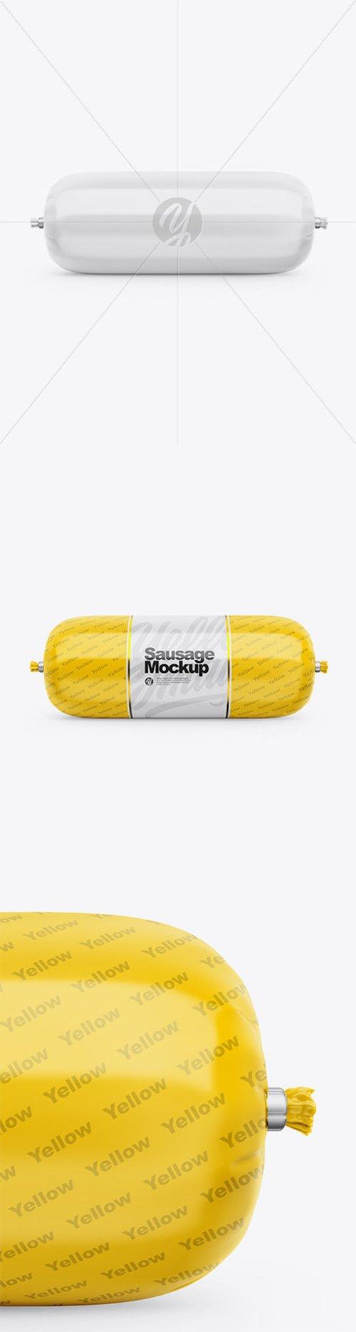 Glossy Sausage Chub Mockup 64647