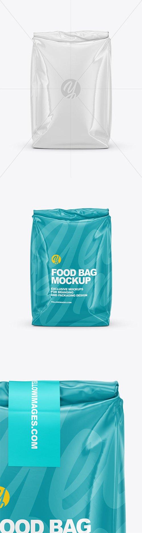 Glossy Food Bag Mockup - Front View 64649