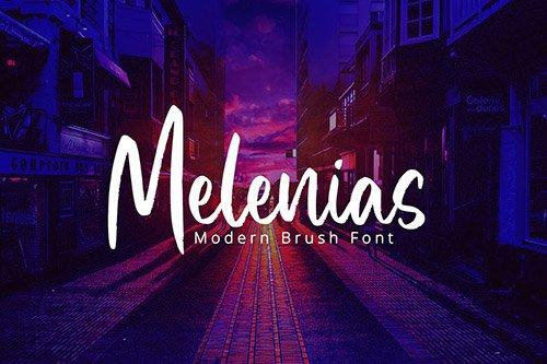 Melenias - Casual Brush Font