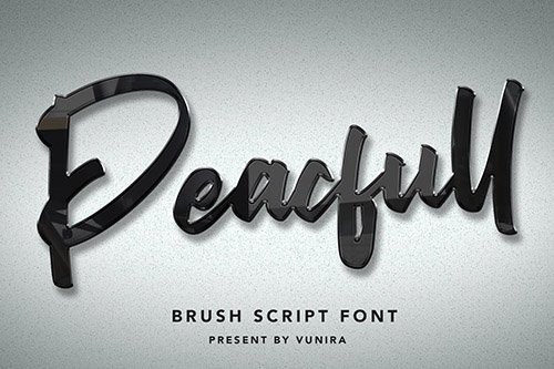 Peacfull | Brush Script Font