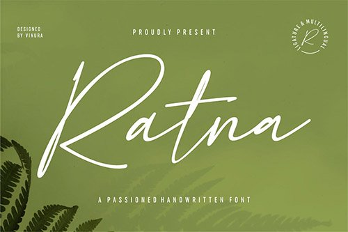 Ratna | A Passioned Handwritten Font