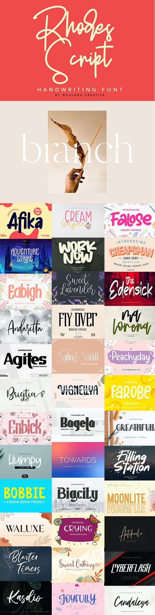 SUPER FONTS PACK AUGUST 2020 VOL 1