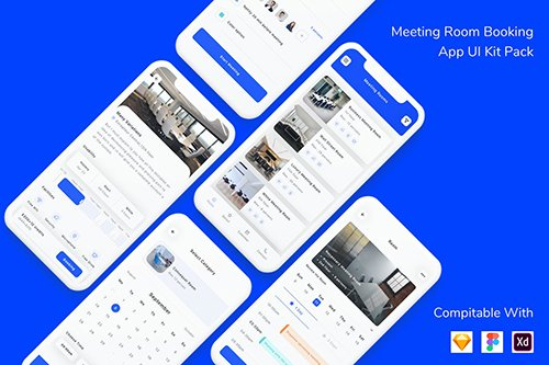 Meeting Room Booking App UI Kit Pack