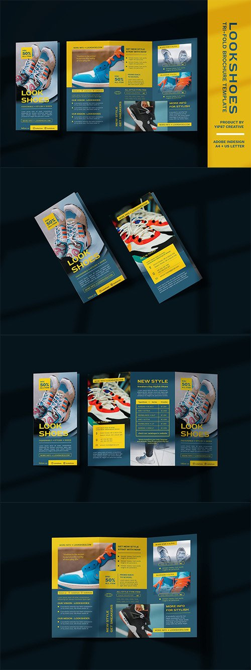 Footwear and fashion Trifold Brochure