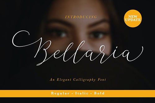 Bellaria Script 4 Styles