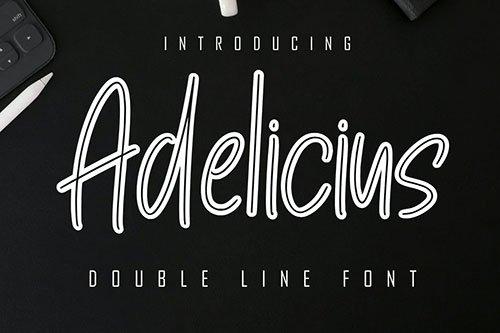 Adelicius Double Line Font