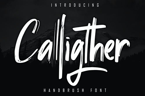 Calligther Handbrush Font