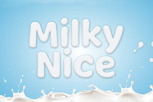 Milky Nice - Playful Display Typeface