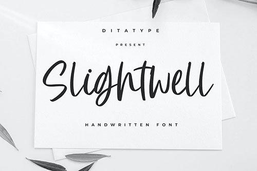 Slightwell - Modern Brush Font