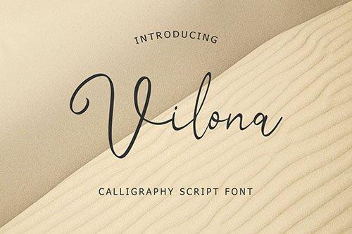 Vilona Calligraphy Script Font