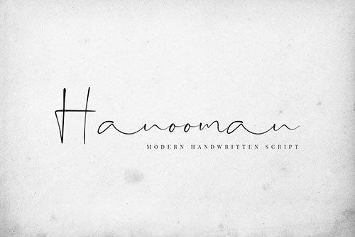 Hanooman - Modern Handwritten Font