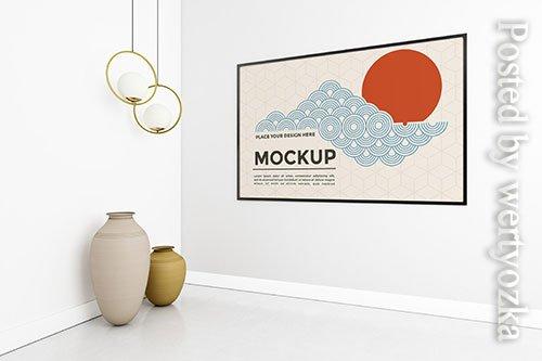 Living room composition with frame mock-up