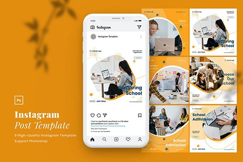 Elegant Education Instagram Post Template Vol.2