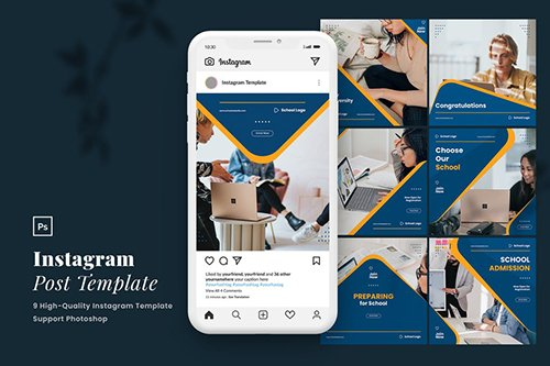Elegant Education Instagram Post Template Vol.1