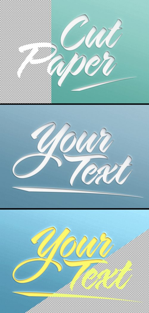 Paper Cut Out Text Effect 369353219