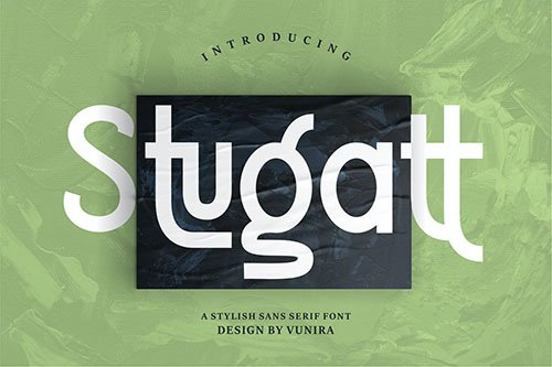 Stugatt | A Stylish Sans Serif Font