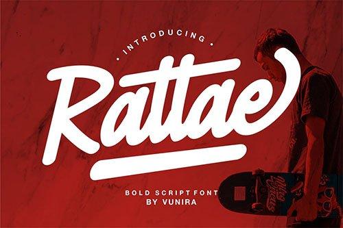 Rattae | Bold Script Font