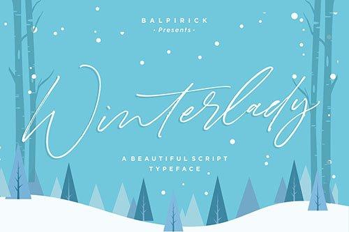 Winterlady YH - Luxury Script Font