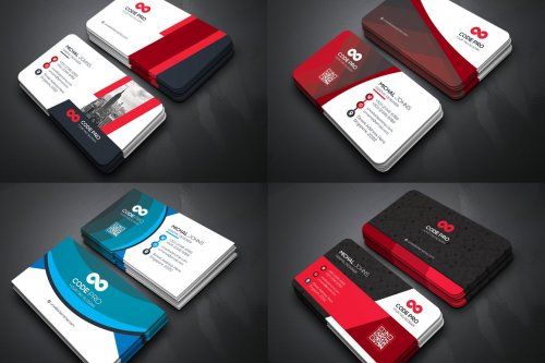 CreativeMarket - 50 Business Cards Bundle 4589907