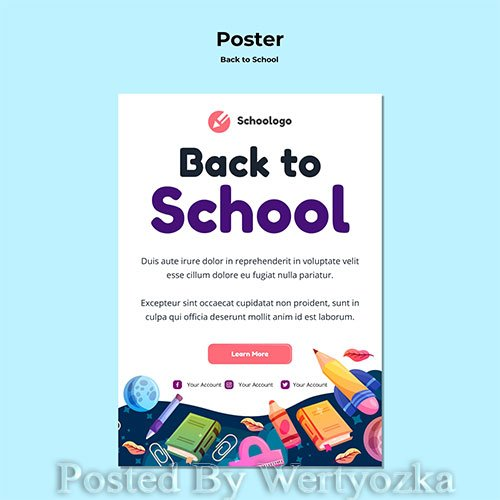 Back to school poster template # 6
