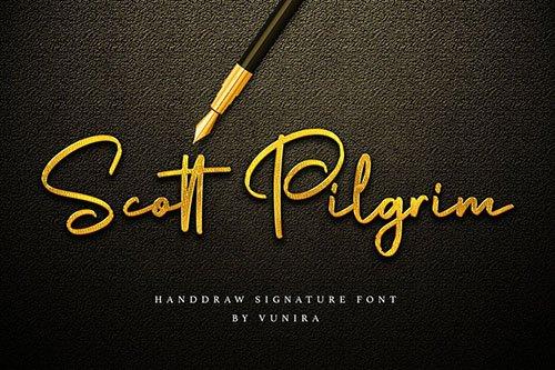Scott Pilgrim | Handdraw Signature Font