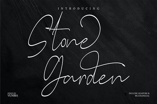 Stone Garden | Script Font