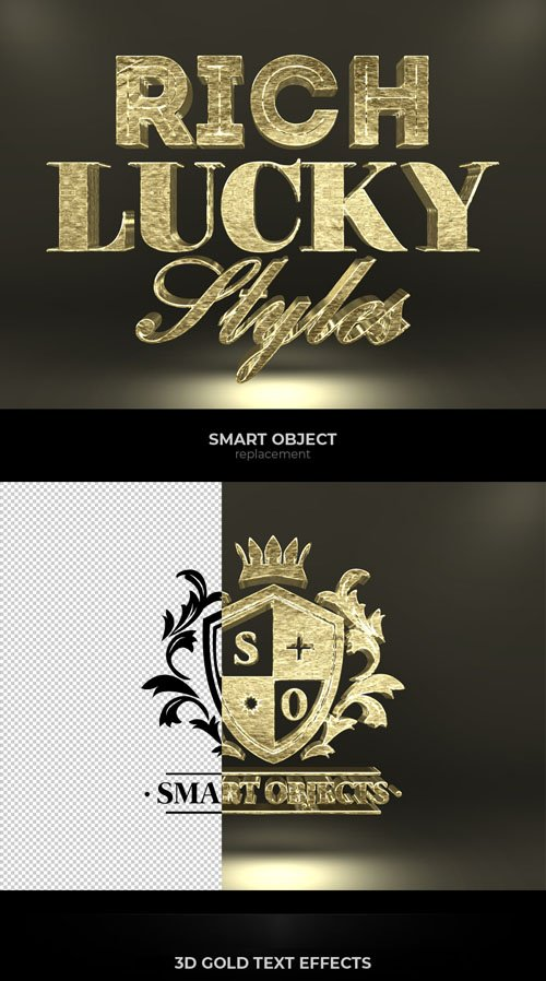 3D Gold Text Effects for Photoshop