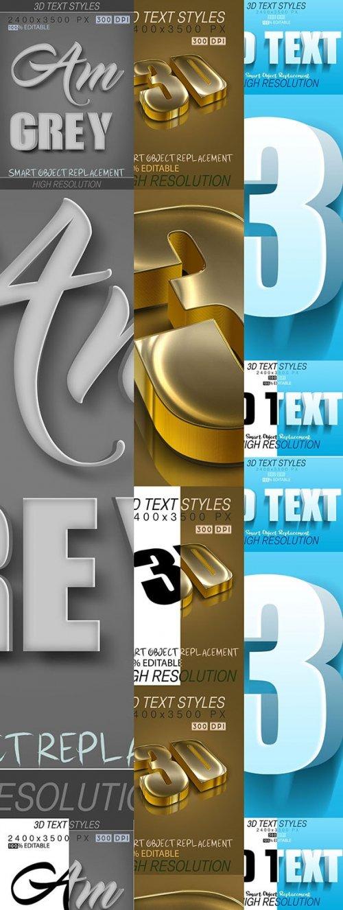GraphicRiver - 30 Bundle 3D Text Mix 21_7_20 27809999