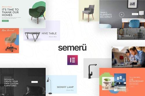 ThemeForest - Semeru v1.0 - Furniture Store Elementor Template Kit - 27930713