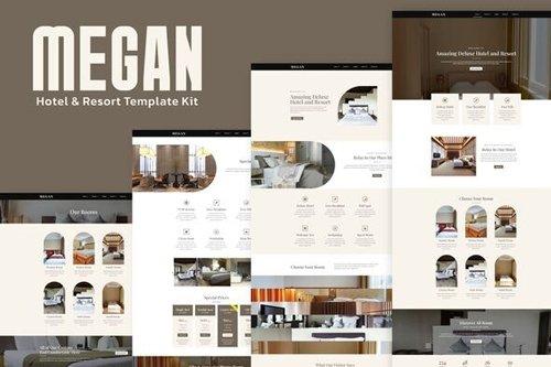 ThemeForest - Megan v1.0 - Hotel Booking Template Kit - 27859097