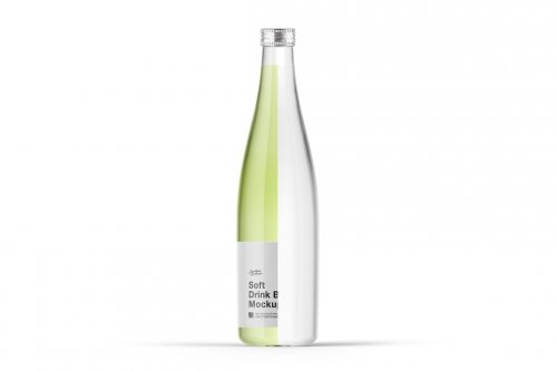 CreativeMarket - Soft Drink Bottle Mockup 5276731