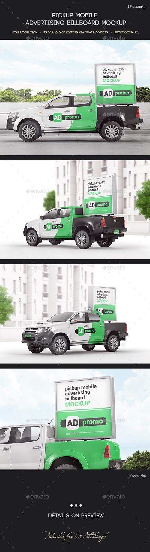 GraphicRiver - Pickup Mobile Advertising Billboard Mockup 27681518