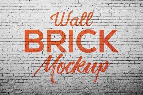 CreativeMarket - Wall Brick Mock up 5270800
