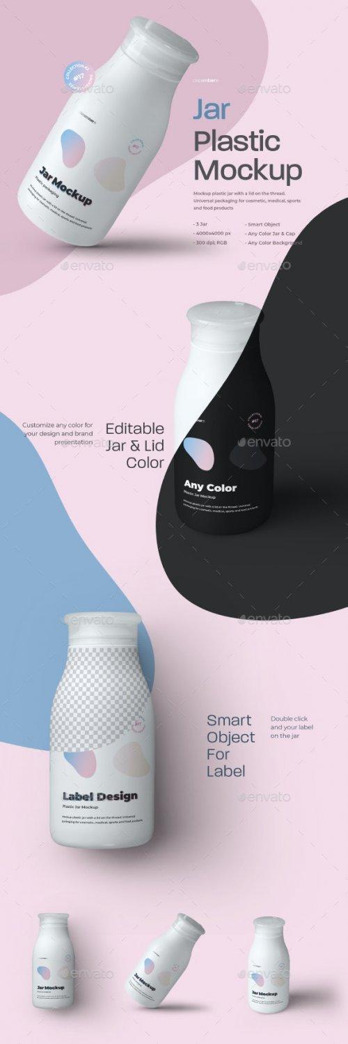 GraphicRiver - 3 Mockups Plastic Jar 28005845