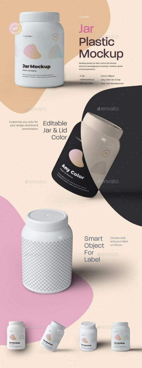 GraphicRiver - 4 Mockups Plastic Fat Jar 28021751