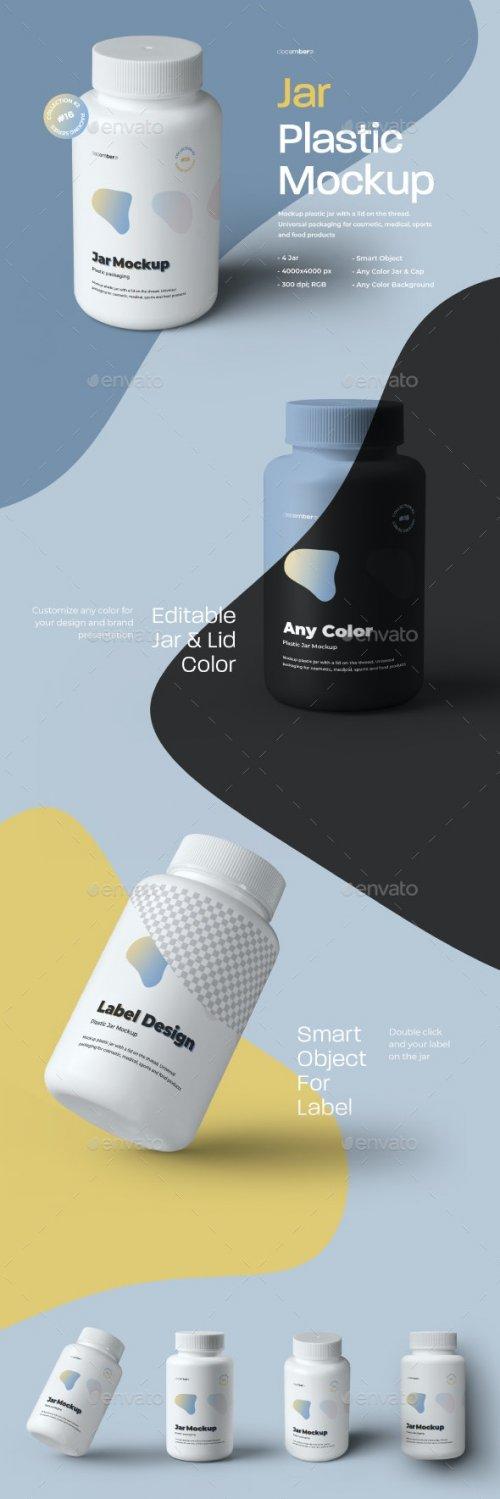 GraphicRiver - 4 Mockups Plastic Jar 28001672