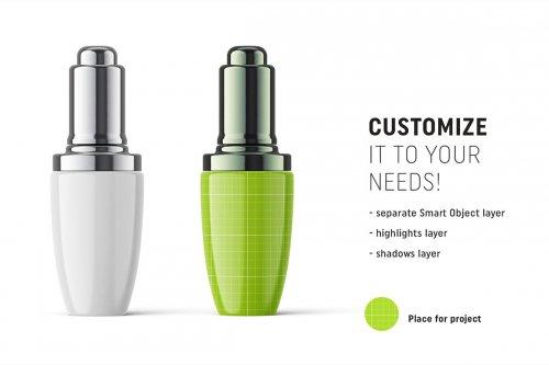 CreativeMarket - Glossy serum bottle mockup 4817504