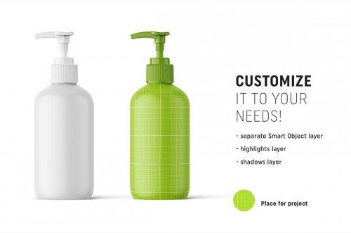 CreativeMarket - Matt cosmetic bottle mockup 4817473