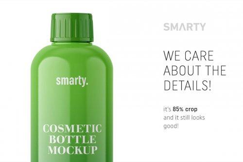 CreativeMarket - Glossy cosmetic bottle mockup 4817561