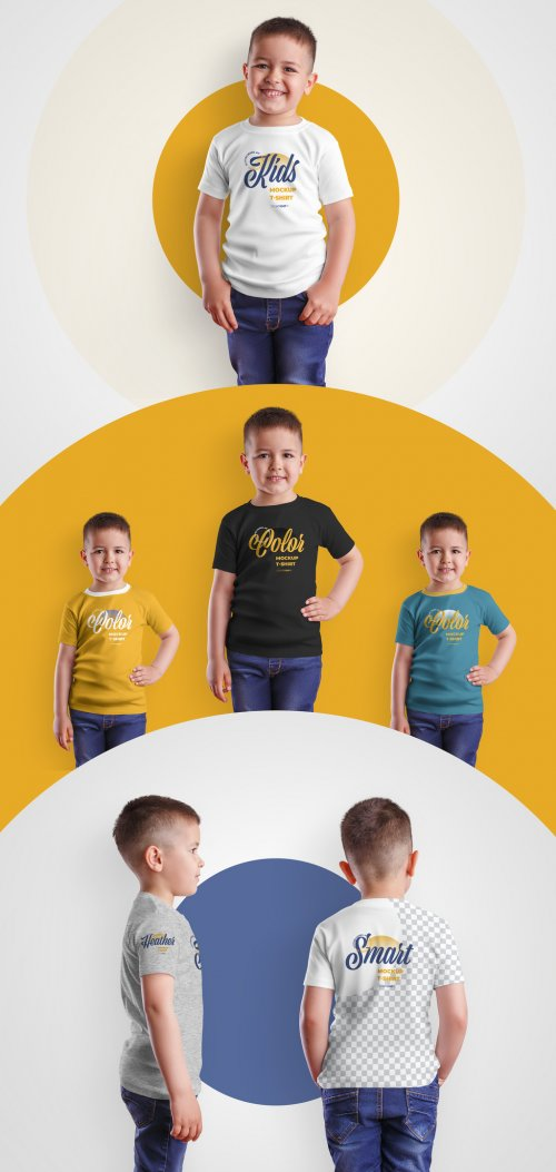 4 Kids T-Shirt Mockups for Boys 370583309