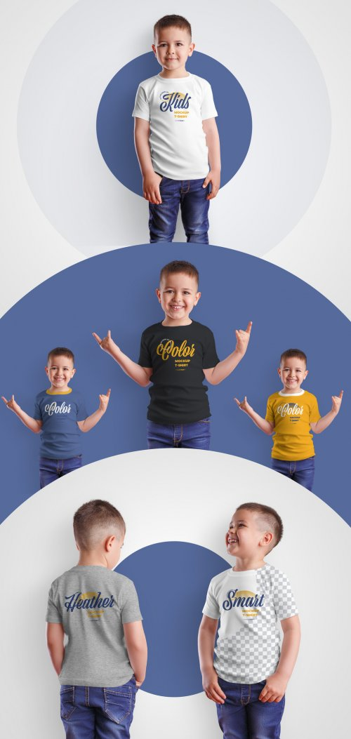 4 Kids T-Shirt Mockups for Boys 370583319