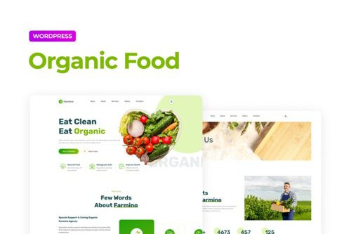 ThemeForest - Farmino v1.0 - Organic Food Template Kit - 28023709