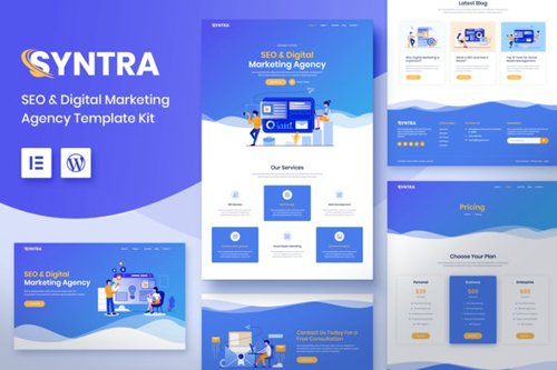 ThemeForest - SYNTRA v1.0 - SEO & Digital Marketing Agency Template Kit - 28052211