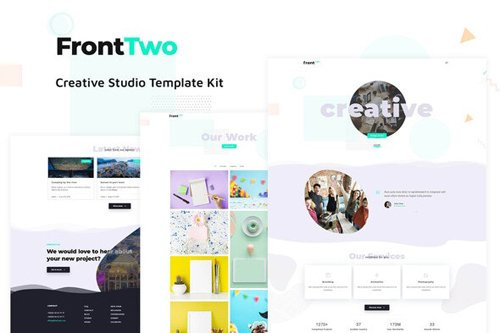 ThemeForest - FrontTwo v1.0 - Creative Studio Template Kit - 28101198