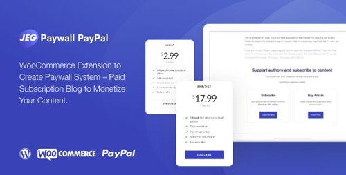 CodeCanyon - Jeg Paypal Paywall & Content Subscriptions System v1.0.1 - WooCommerce Plugin - 28142030