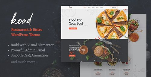ThemeForest - Koad v1.0 - Restaurant & Bistro WordPress Theme - 27797470